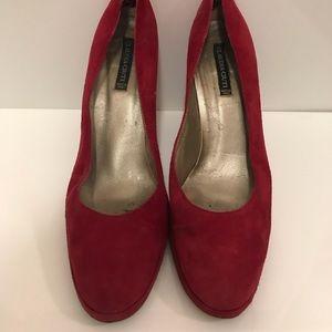 Shoes - Claudia Cuiti platform suede shoes. Size 8.